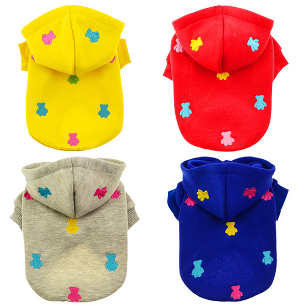 Spring Dog Clothes for Small Puppy , Solid Color Dogs Clothing For Pug Teddy Chihuahua Cat Apparel Dropshipping Pet Dog Supplier XXS-L