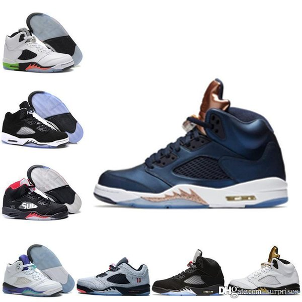 sale retailer 86d7f 9f270 New Air Retro 5 Bronze Mens Basketball Shoes Low Neymar Mens Sneaker OG  Black Metallic Discount Shoes Oreo Athletic Size 7 13 Kids Sneakers Shoes  ...