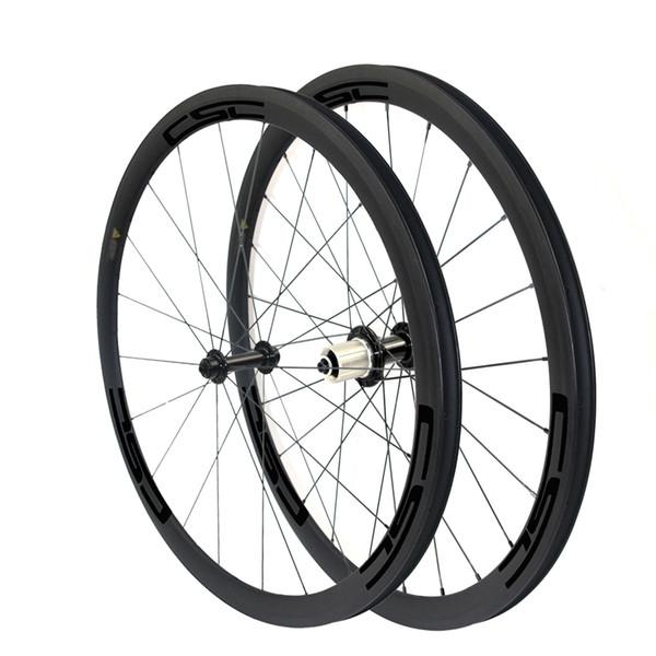 6 Pawls Ceramic Bearing R13 hub 38mm Clincher Tubeless Tubular carbon bicycle wheelset carbon fiber road bike wheels