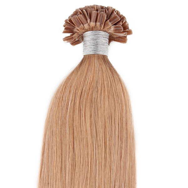 In Stock Nail Top Extension U-Tip Hair Extensions Human 50g U-tip Extensions 100 Strands Pre-Bonded Nail Tip Pre-bonded Hair Extensions