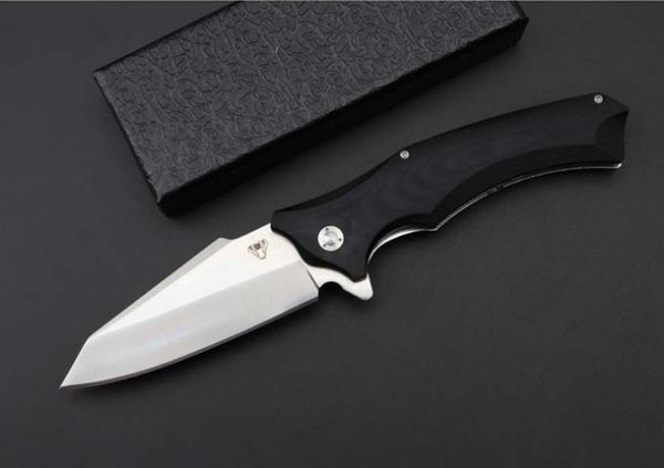 High quality OEM Tactical Folding Knives 9cr18mov knife G10 Handle outdoor EDC hiking Camping Hunting Survival Pocket Knives