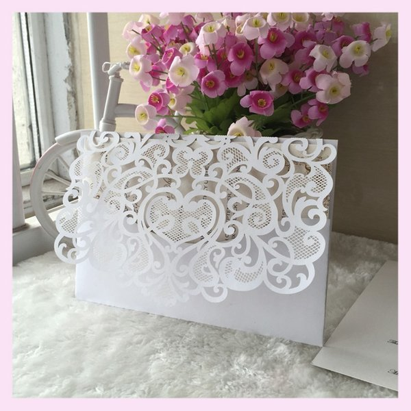 Elegant Lace Romantic 2017 New Design Wedding Invite Business Dinner Invitation Collection Rsvp Card Greeting Card Send Gift Card Email Dining Gift