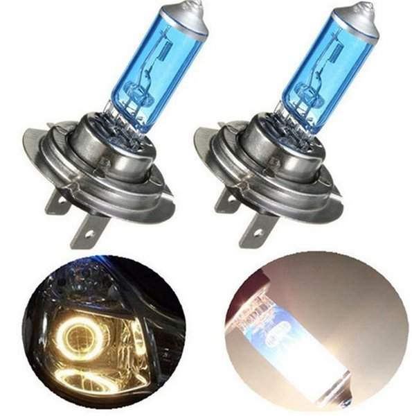 2pcs/lot H7 55W 12V Auto Halogen Front Headlights Head Lamp Car Fog Lights Parking Bulb Lamp Super Xenon White Car Styling