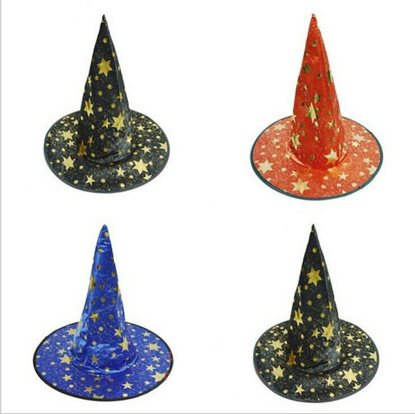 best selling halloween witch cap Party Cosplay Prop for Festival Fancy Dress Children Costumes Witch Wizard Gown Hats Costume kids hat