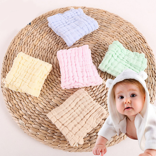 6 layers gauze cotton baby bandana drool bib soft newborn infant lunch feeding scarf bib candy color burp cloths 0-3 years