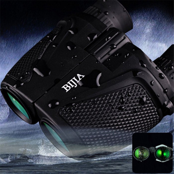 BIJIA Binoculars Telescope Porro BK4 Prism Binoculars Waterproof 12 x 25 HD Night Vision Binoculars 83m / 1000m Ultra-clear Telescopes +B