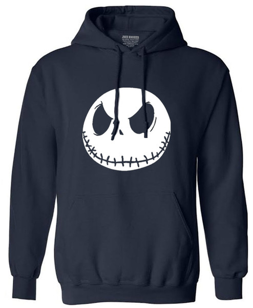 Wholesale- New autumn Mens sweatshirt men fashion Nightmare Before Christmas Jack Skellington Male Charcoal long Sleeve hoodies tracksuit