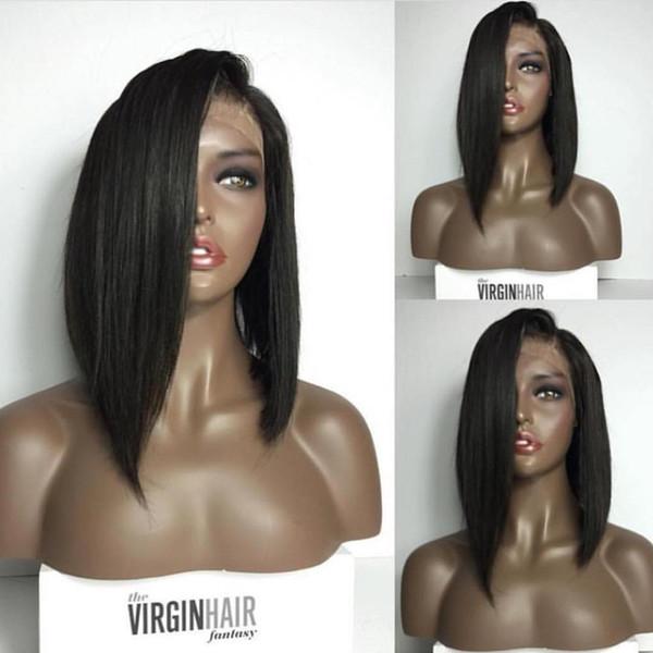 8A Short Bob Wig Full Lace Wigs Human Hair Brazilian Short Bob Lace Front Wigs Virgin Hair Cuts Bob Human Hair Wigs