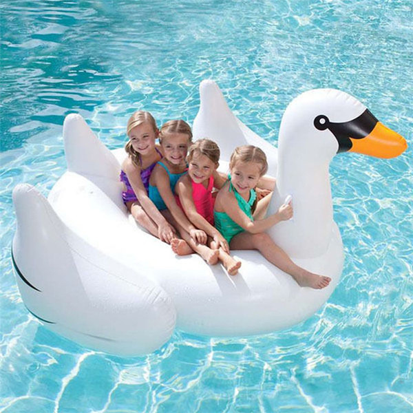 top popular Hottest Sale Summer Swimming Inflatable Floating Floor Inflatable Water Float Raft Air Mattress Swim Pool Beach Toy Inflatable Giant Swan 2021