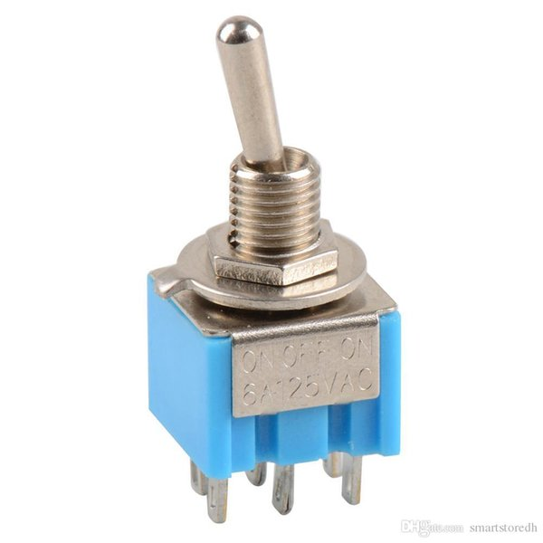 best selling 1 Pc New Mini MTS-203 6-Pin DPDT ON-OFF-ON Toggle Switch 6A 125V B00030 JUST