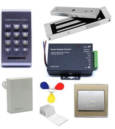 125Khz RFID Contrôle D'accès ID Mot De Passe Safty Entrée Système Serrure De Porte Magnétique Set