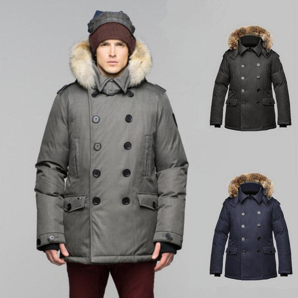 Wholesale top quality Winter jacket men jaqueta masculina Button parka Fashion Overcoat Duck down Coat army military outdoor Jacket