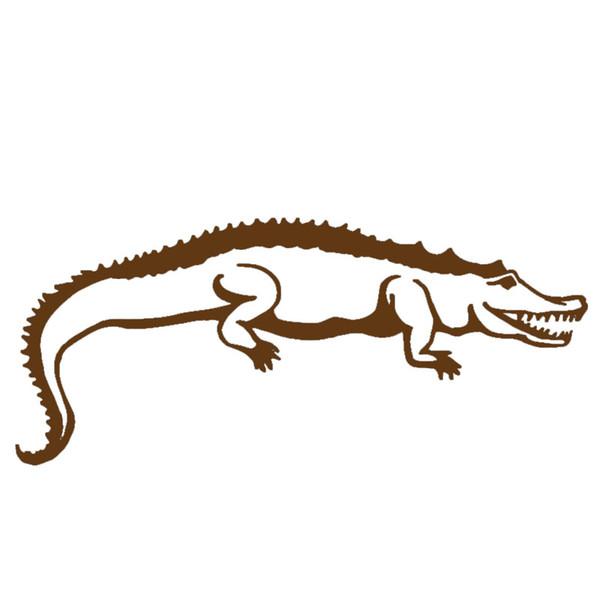 Fierce in Blood Cold Crocodile Crawling Art Car Sticker for Camper Van Trucks Motorcycles Waterproof Canoe Vinyl Sticker