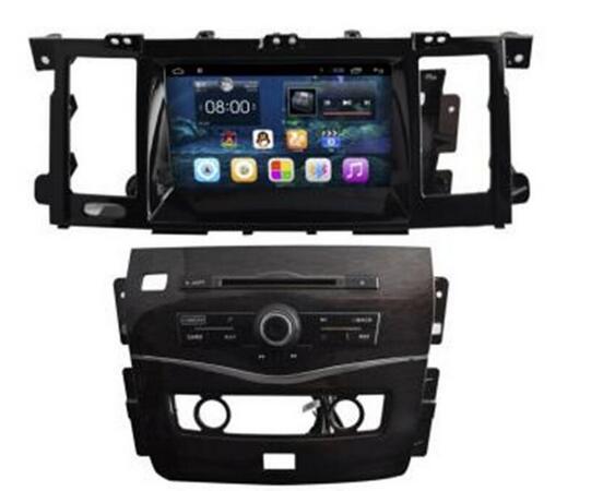 8 pouces HD1024 * 600 Gps Android 6.0 Core Dvd de voiture pour Nissan PATROL 2015 soutien wifi 3G 4G obd dvr commande au volant,
