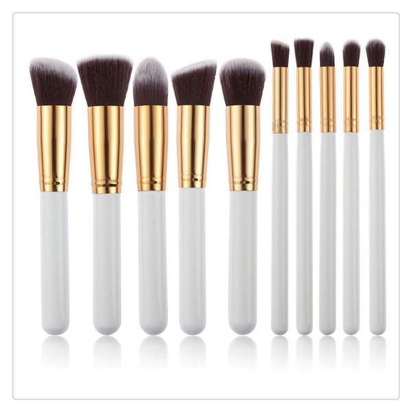 2017 HotSelling Pincéis de Maquiagem Set New 10 Pcs Ferramentas de Maquiagem Cosméticos Rosto Eyeshadow Brushes Frete Grátis MakeUp Escova Set Kits
