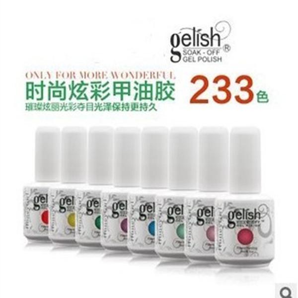 2017 ТОП 233colors 15 мл Gelish польский Soak off УФ-гель лак для ногтей Gelish nail art лак бесплатный Fedex TNT доставка