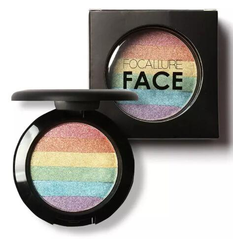 Wholesale New Arrival Beauty Makeup Rainbow Contour Shading Powder Face Bronzer Highlight Shadow Concealer Free shipping