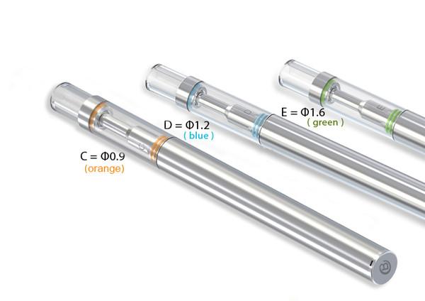 disposable glass shisha vaporizer bud D1 e cigarette vape pen for different thickness liquid ceramic cartridge 0.5ml empty tube packaging