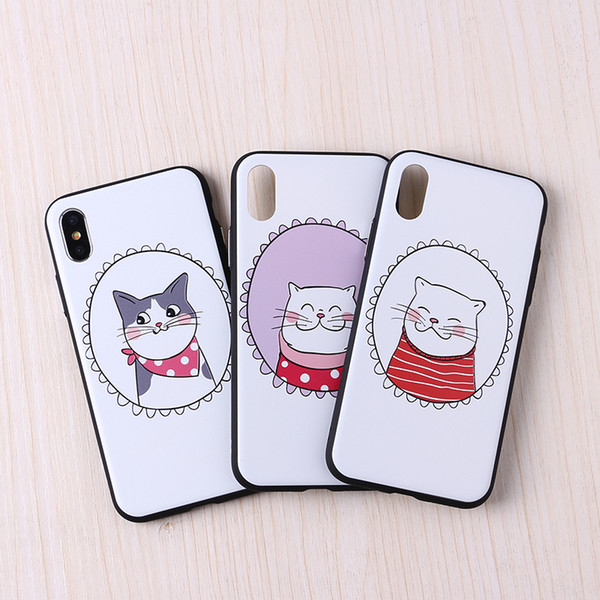Cool Cartoon French Bulldog 3D Relief Painting Soft Phone Case For iPhone 7 7Plus 6 6S 6Plus 5 5S 8 8Plus X