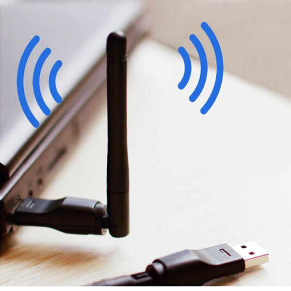 Gros- 5370 150Mbps WLAN Adaptateur sans fil 2,4 GHz sans fil Wifi USB WLAN Wifi Dongle Wifi Memory Stick Adaptateur Rotatif Connecteur d'antenne