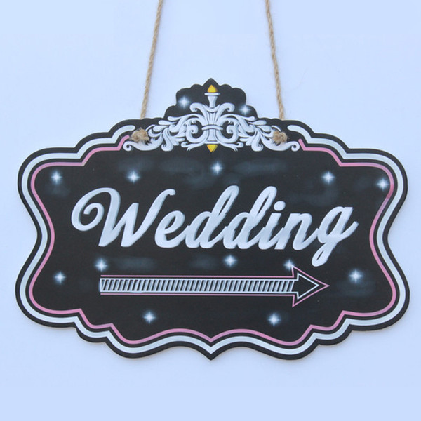 Wedding Chalkboard sign - Weding Monogram With A Arrows To Show The Wedding Ceremony Place To Guest