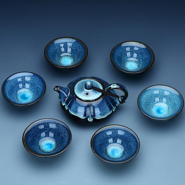 Çin çin Kung Fu çay seti Jingdezhen seramik çay seti Çin çay bardağı hediye için iyi