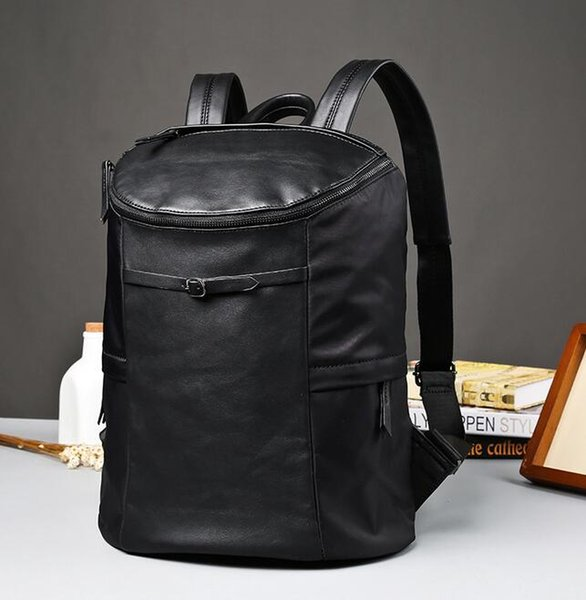 Factory wholesale brand men bag simple large capacity mens backpack high quality nylon with leather Student Backpack leisure travel backpack