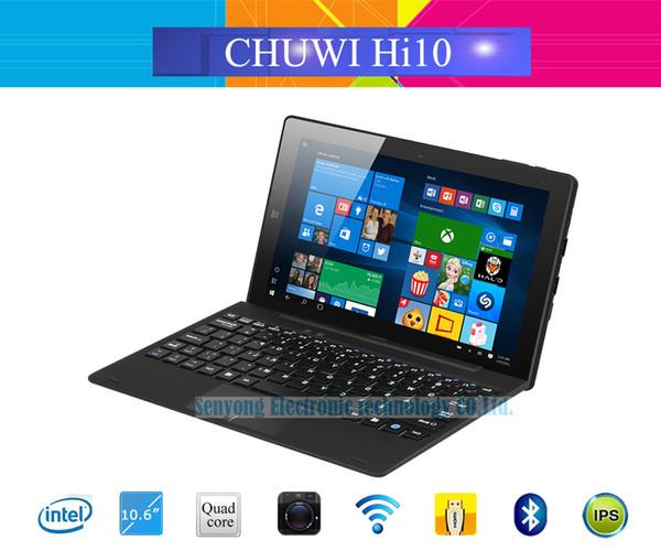 Wholesale- Chuwi HI10 Windows10 + Android 5.1 Dual OS Quad Core Tablet PC 10.1'' IPS Intel Trail-T3 Z8300 4GB RAM 64GB ROM BT HDMI Camera