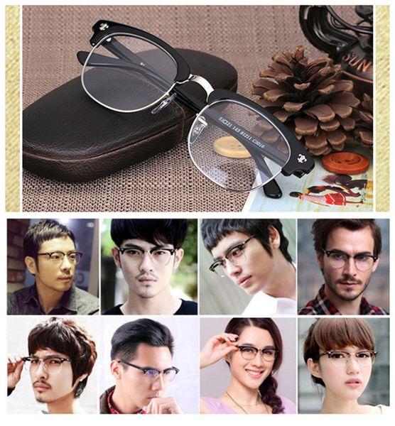 Hand-made star-supermen Retro-vintage Eye-brow glasses frame quality pure-plank unisex prescription glasses 81211wholesale freeshipping