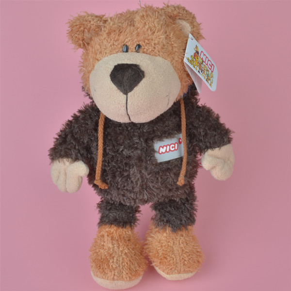 Coffe Color 35cm Soft Stuffed Cloth Teddy Bear Plush Toy, Baby Kids Brithdat Party Doll Gift Free Shipping