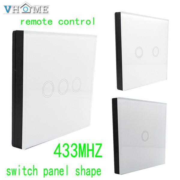 Al por mayor- Vhome Smart Home 433MHZ Switch Shape Control remoto inteligente + luz de pared táctil inalámbrica por broadlink, domótica control remoto inteligente