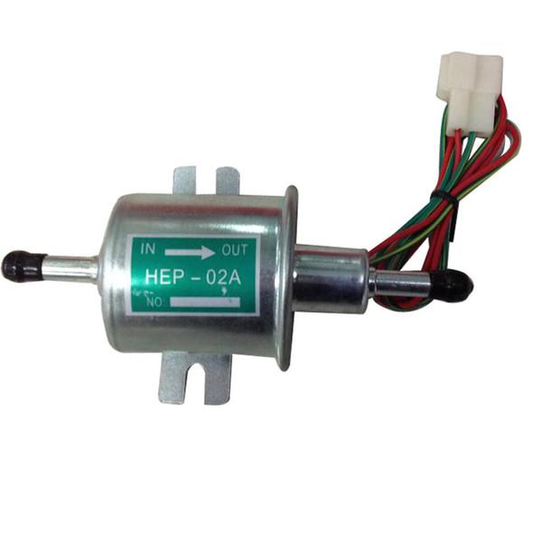 Universal Petrol Gasoline Diesel 12V Electric Fuel Pump HEP-02A Low Pressure For Most Car Carburetor Motorcycle ATV
