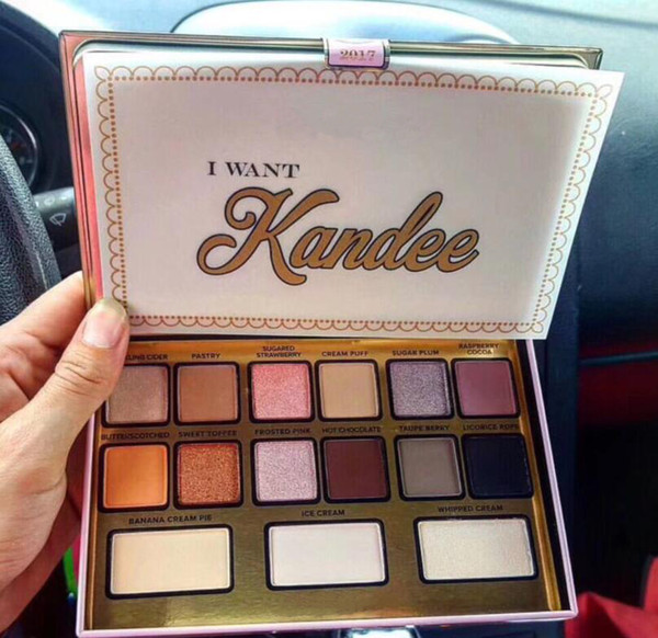 Brand I Want Kandee Eyeshadow Palatte I Want Kandee Limited Edition CANDY EYE EYESHADOW PALETTE 15 Colors Eyeshadow Palatte Gift