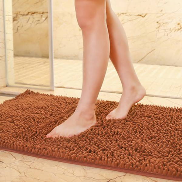 Wholesale- 80*120cm New Chenille Bathroom Mats Large Super Absorbent Water Carpet Non-Slip Mat Kitchen Bathroom Bath Mat With Free Shipping