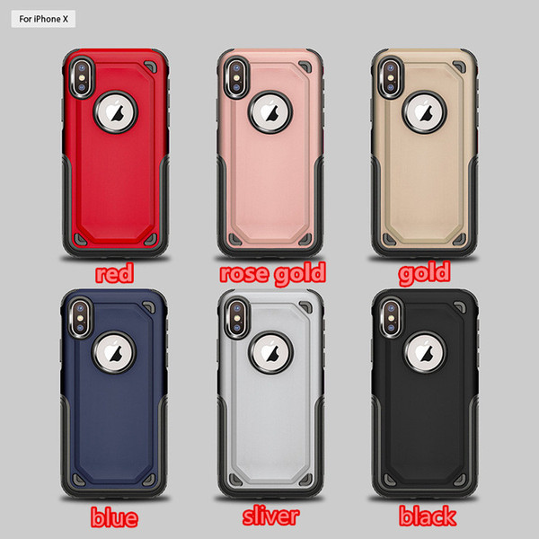 For iPhone X 8 7 6 6S plus Cell phone case 2 in 1 Shockproof Armor Hard Frame TPU+PC Gel Hybrid SGP back Cover For Samsung Note 8 S8 S7 edge