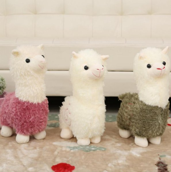 top popular Kawaii Rainbow Alpaca Plush Doll Toys Cute Llama Alpacasso Stuffed Toys Japanese Stuffed Animals Doll Children Kids Gift 2020