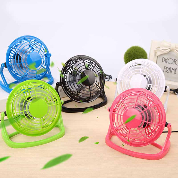 top popular 5 Color 4 Inch Portable Plastic USB Fan Plug Cooling Desktop Mini Electric Fan With Key Switch DEC282 2021