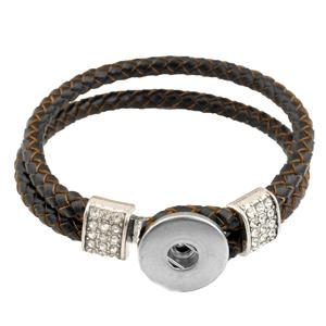 P00056 Hot wholesale newest design Rivca snap Button jewelry Fir 18mm Diy buttons noosa chunks Leather Bracelets for women Birthday gift