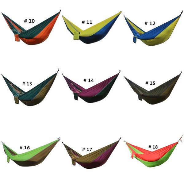 275*140cm 2 Person Hammock hamac Outdoor Leisure Bed Hanging Bed Double Sleeping Travel Hammock Camping Hunting 36 Color