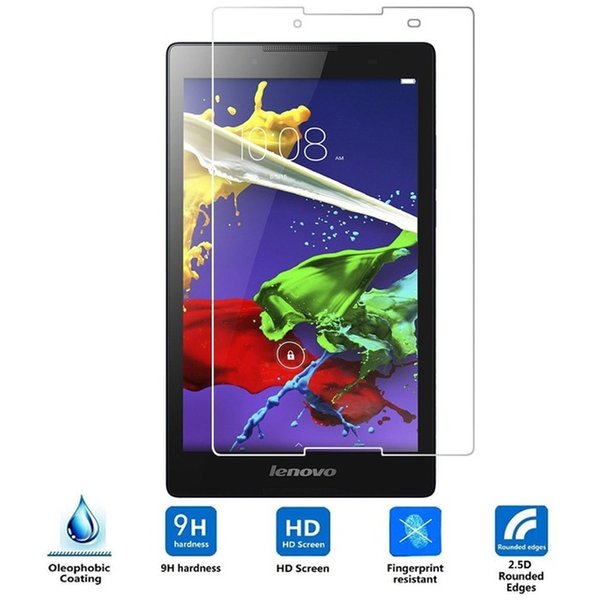 Wholesale-9H 2.5D 0.3MM Explosion-Proof Toughened Tempered Glass For Lenovo Tab 2 A8 A8-50 A8-50F A8-50LC A8 50 Screen Protect Cover Film