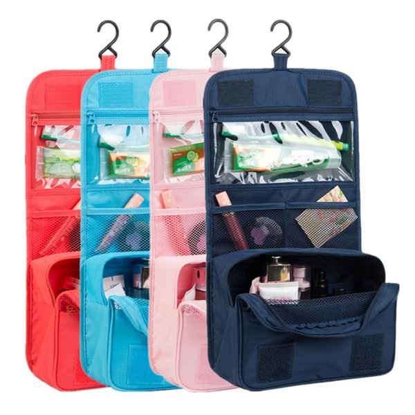 Women Makeup Cosmetic Toiletry Wash Travel Case Bag Pouch Suspension type Shower storage bag