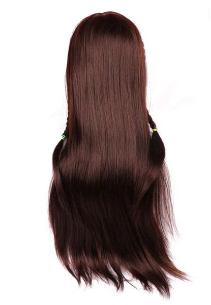Mannequin Head Training Female Model Head With Hair Maroon Color annequins Human Heads Training Female Wig Dummy Head