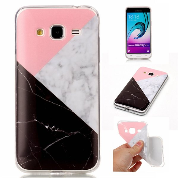 Marble Case For Samsung Galaxy Grand Prime G530/J3/J5/J7/J5 J510 2016/J7 J710 2016 TPU IMD Soft Gel Rubber Soft Back Phone Cover