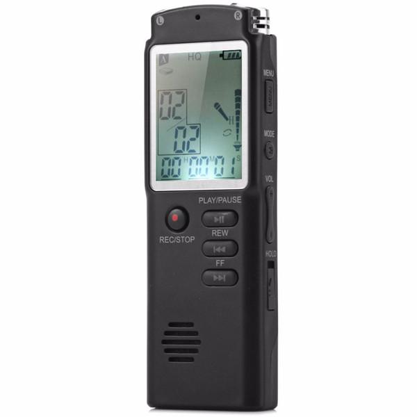 Wholesale- 8GB 2 in 1 Professional Audio Registratore vocale digitale Lettore MP3 con visualizzazione in tempo reale