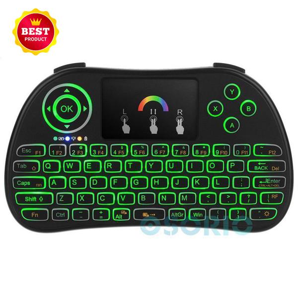 P9 arcobaleno Mini tastiere retroilluminate Telecomando 7 colori 2.4G Wireless Portable Game Touchpad portatile per PC Scatola TV Android Xbox360 mouse