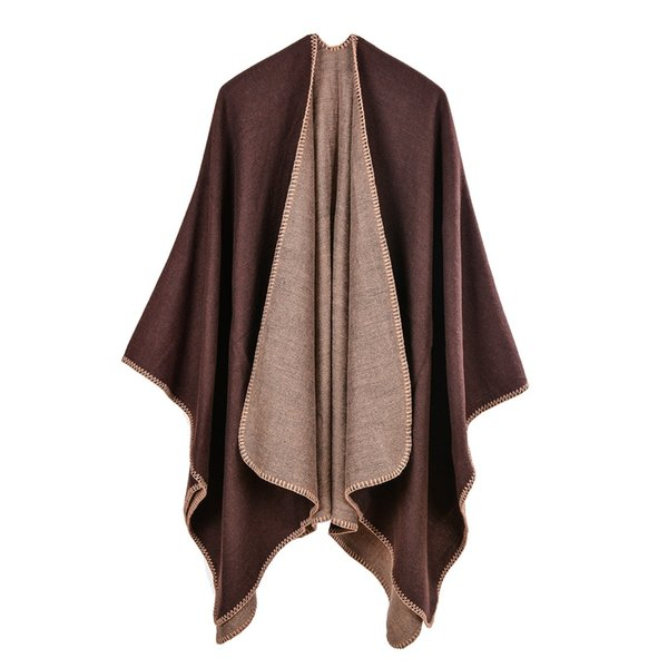 Winter Top Sell Scarves Capes Multi-Function Solid Women Poncho Shawl Winter Warm Cashmere Shawls For Lady Nite OWL Brand RO17012