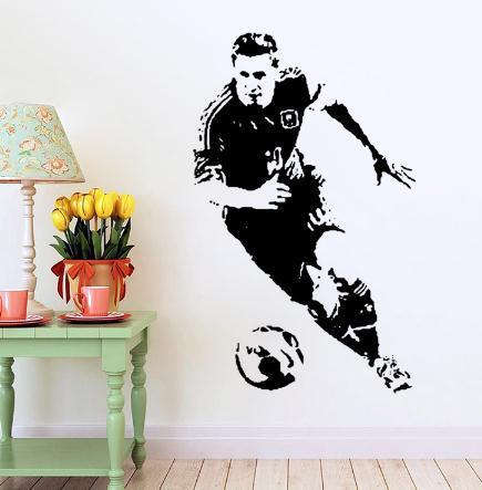 Casa de futebol quarto decorativo acessórios adesivos de parede cartazes adesivos de papel de parede para crianças