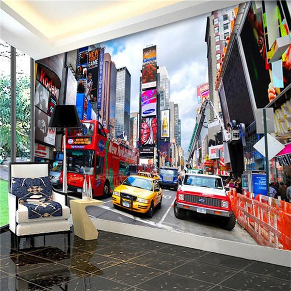 Compre Custom Wallpaper Bus New York Times Wallpaper Tv Wallpaper Background Oficina Dormitorio 3d Papel De Parede A 300 Del Fumei66 Dhgatecom