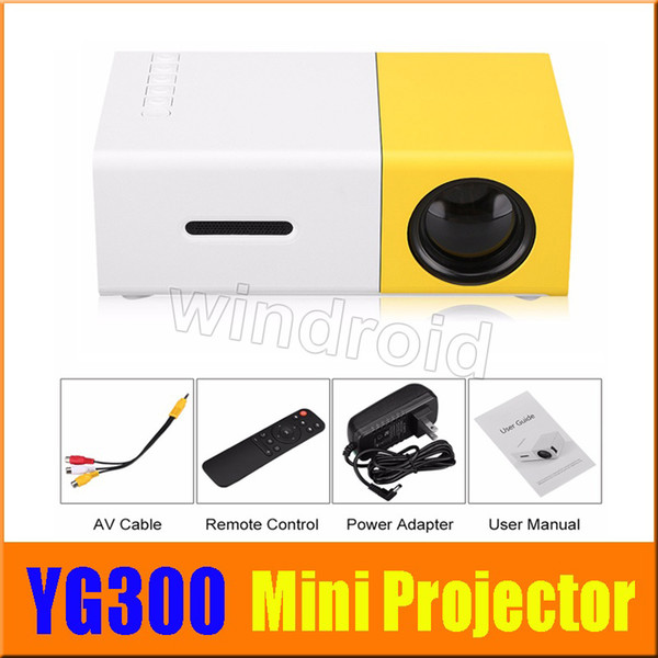 YG300 YG-300 Newest Mini Portable Pico LED Projector SD HDMI AV SD USB Projectors Home Theater Cinema + retail box free shipping cheapest 30