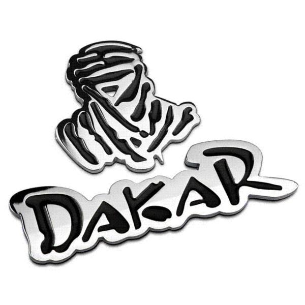 Auto Car 3D Emblem Chrome Sticker Decal Badge DAKAR Logo 2 colors 100% Metal New Sport Racing Drift Motorsport Street Racing